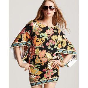 Trina Turk Black Nandini Kimono Tunic